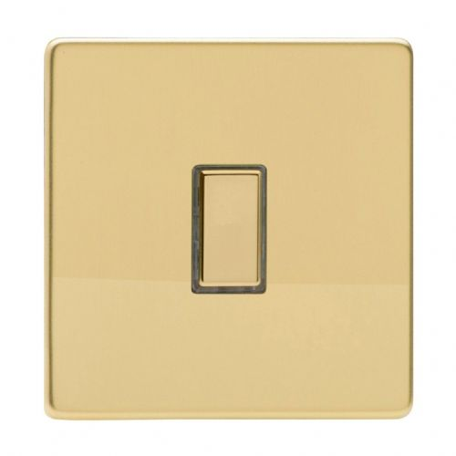 Varilight JDVES001S Screwless Polished Brass 1 Gang Touch Dimming Slave (use with V-Pro Master)